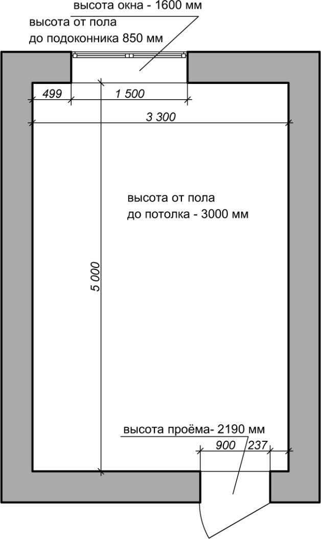 план обмеров