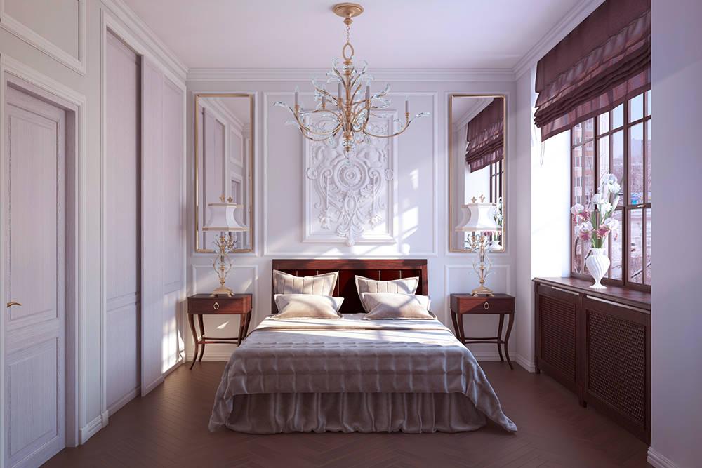 спальня теплый тон