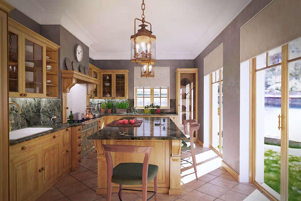 кухня светлый клен 2