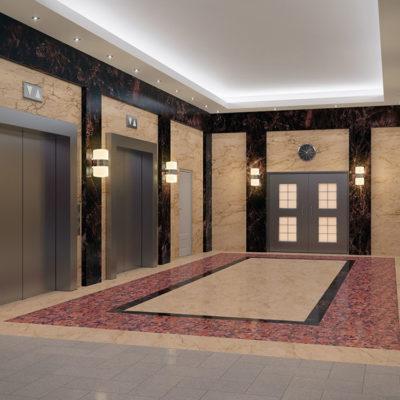 Лифтовой холл БЦ