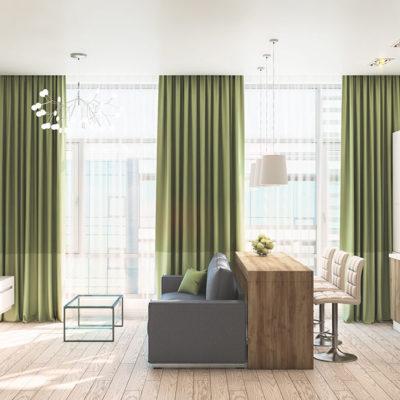 Квартира 40м2 в стиле минимализм.